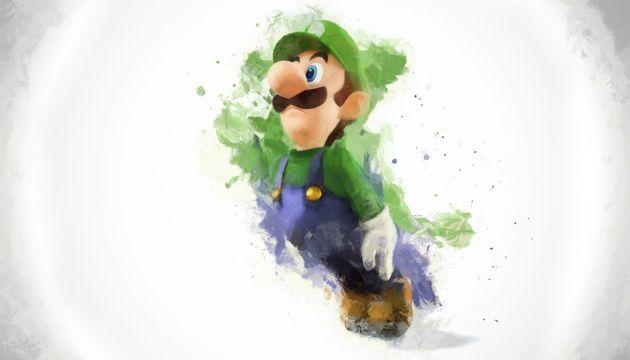 带绿帽子的马里奥