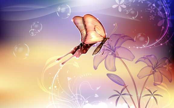 唯美梦幻的蝴蝶