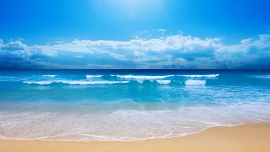 沙滩高清壁纸