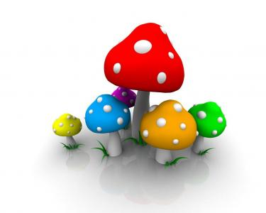 3d蘑菇壁纸
