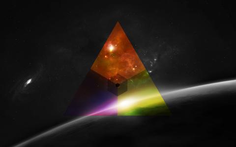 抽象的三角形壁纸