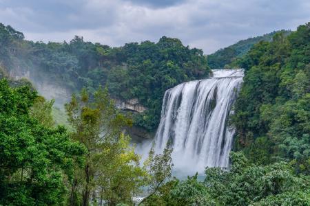 黄果树瀑布自然景色