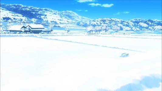 动漫雪景高清壁纸