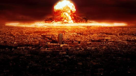 在城市的核爆炸高清壁纸