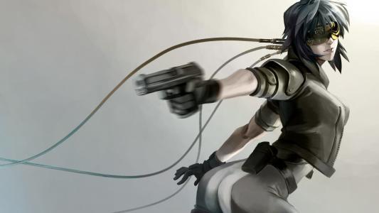 动漫女孩用枪高清壁纸