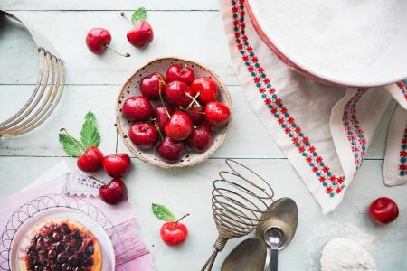 美味可口的樱桃
