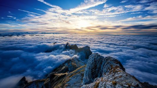 气势磅礴的云海