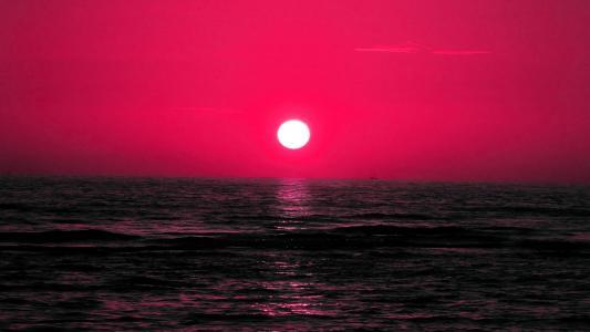 红日落高清壁纸