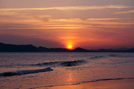 大海日落唯美风光