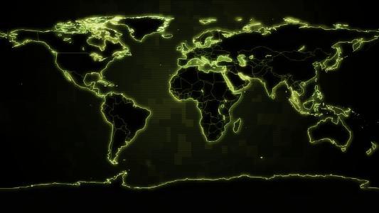 数字世界地图高清壁纸