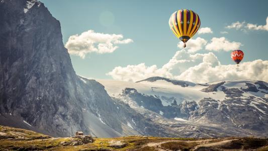 热空气气球壁纸