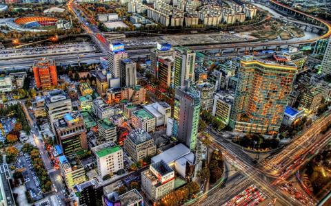 人类发展报告城市景观壁纸