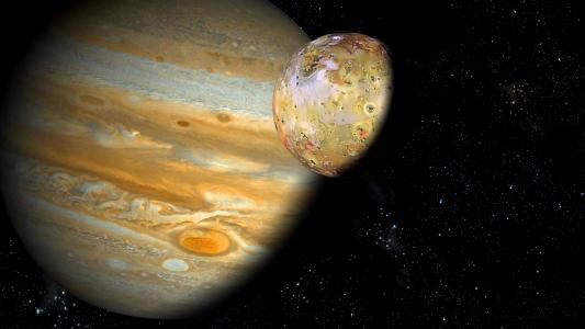 木星和Io高清壁纸
