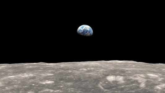 地球视图从月亮高清壁纸