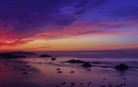 唯美晚霞迷人景色