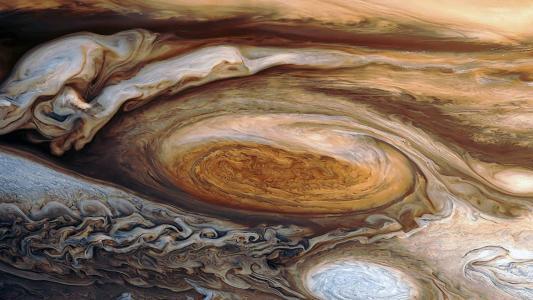木星的伟大的红色现货高清壁纸