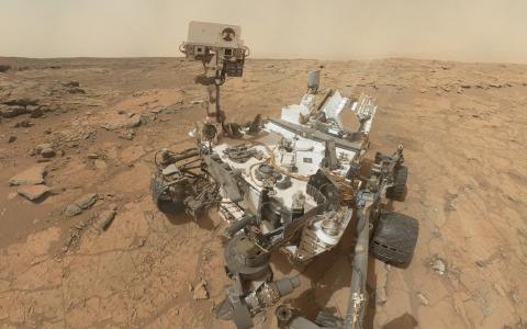 好奇号火星上的火星壁纸