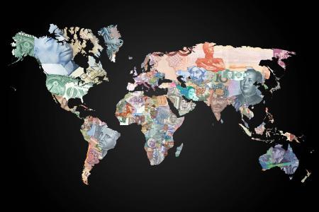 钱世界地图壁纸