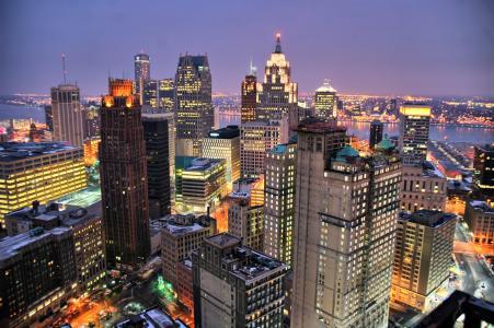 底特律摩天大楼壁纸