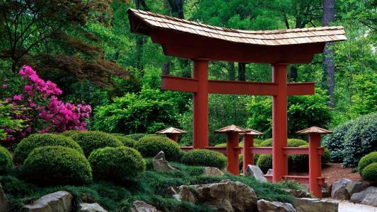 日本花园高清壁纸