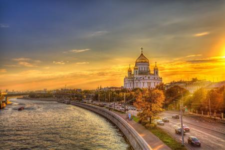莫斯科的黄昏日落
