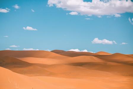 荒芜人烟的沙漠景色