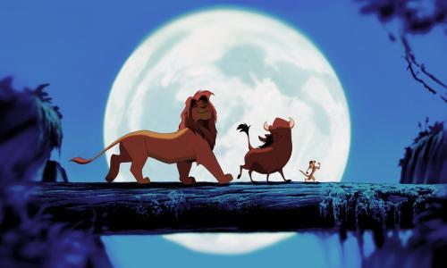 狮子王月光壁纸