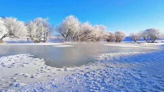 冬季雪后迷人景色