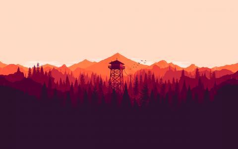 简单的颜色风景壁纸