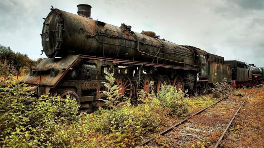 老生锈的火车高清壁纸