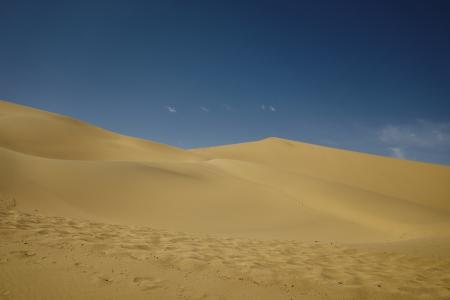 荒无人烟的沙漠景观