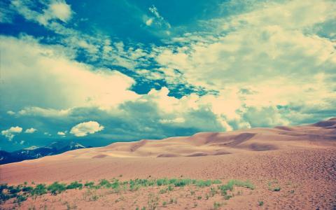 沙子和云彩墙纸