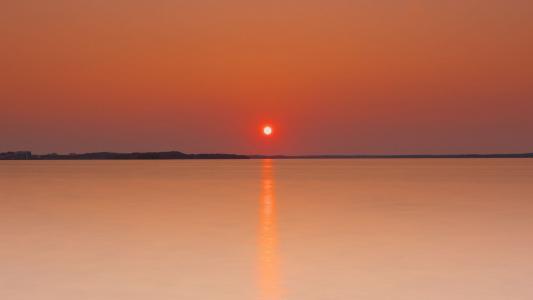 海上唯美落日迷人风光