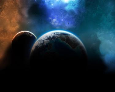 行星在外层空间壁纸