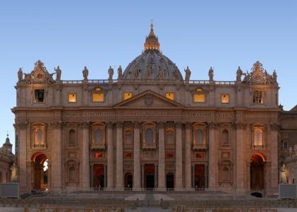梵蒂冈圣彼得大教堂风光