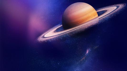 太空里的土星