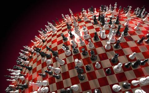 3d棋球形壁纸