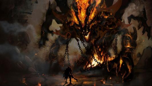 巨人之火恶魔壁纸