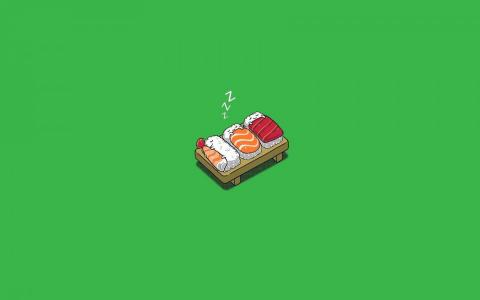 有趣的寿司睡觉壁纸