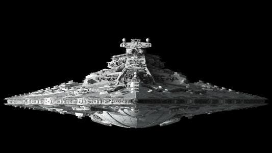 星际驱逐舰前视图高清壁纸