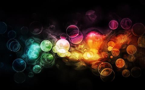 五颜六色的气泡壁纸
