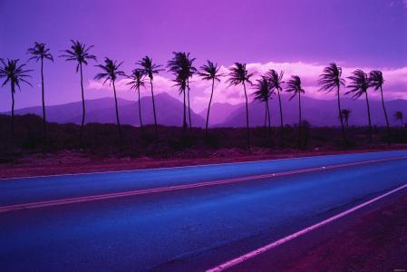 紫罗兰色的天空壁纸