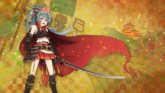剑动漫女孩高清壁纸