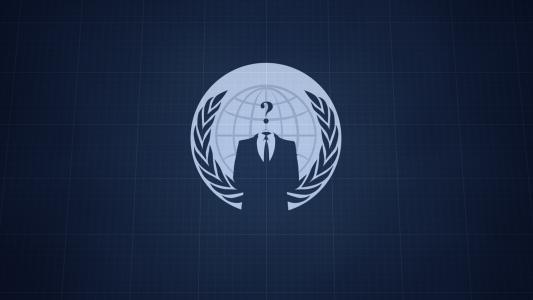 匿名蓝色高清壁纸