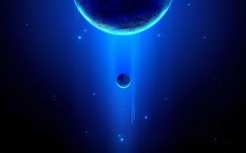 蓝色行星壁纸