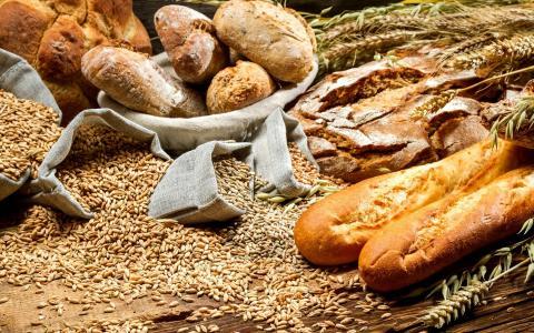 面包和麦子墙纸