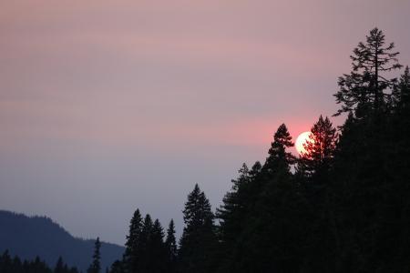 夕阳西下迷人景色