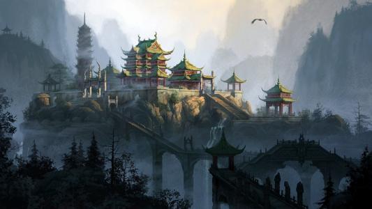 日本寺庙风光高清壁纸