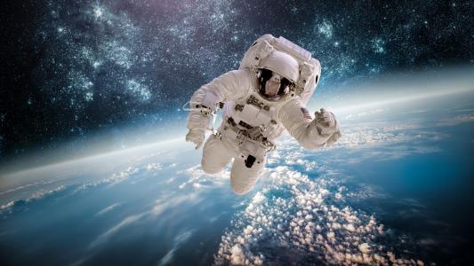 太空上的宇航员