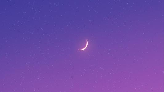 优美迷人的夜空